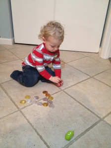 Jonah with dreidel